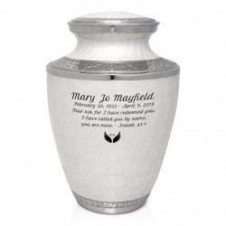 Radiant White Cremation Urn