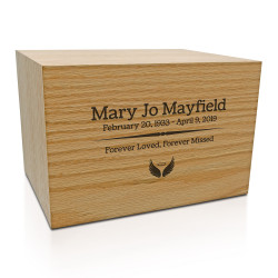 Traditions Oak Cremation Urn