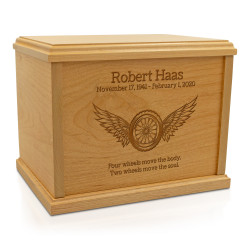 Winged Wheel Cremation Urn...