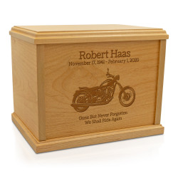 Motorcycle Cremation Urn -...