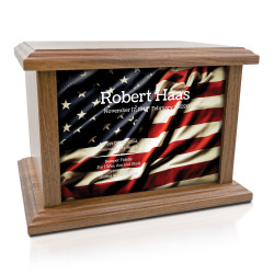 American Flag Cremation Urn...