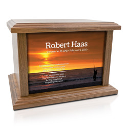 Fishing Cremation Urn -...