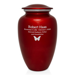 Ruby Red Cremation Urn