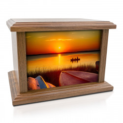 Lake Sunset Cremation Urn -...