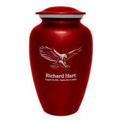 Eagle Cremation Urn - Ruby Red
