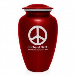 Peace Cremation Urn - Ruby Red