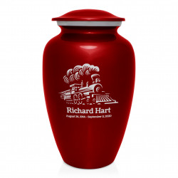 Train Cremation Urn - Ruby Red