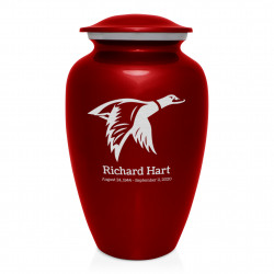 Duck Cremation Urn - Ruby Red