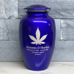 Customer Gallery - Marijuana Cremation Urn - Midnight Blue