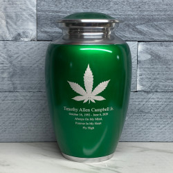 Customer Gallery - Marijuana Cremation Urn - Shamrock Green