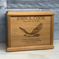 Customer Gallery - Eagle Cremation Urn - Signature Alder