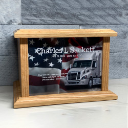 Customer Gallery - Semi Truck Cremation Urn - Prestige Oak