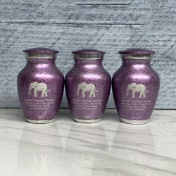 Customer Gallery - Elephant Keepsake Urn - Purple Luster