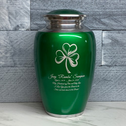 Customer Gallery - Shamrock Cremation Urn - Shamrock Green