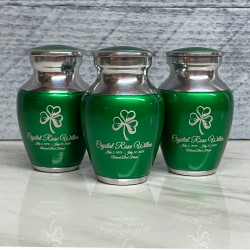 Customer Gallery - Shamrock Keepsake Urn - Shamrock Green