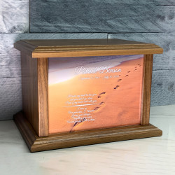 Customer Gallery - Footprints in the Sand Cremation Urn - Prestige Walnut