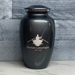 Customer Gallery - Fisherman Boat Cremation Urn - Gunmetal Gray