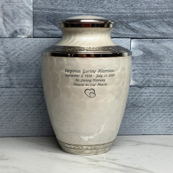 Customer Gallery - Radiant White Cremation Urn