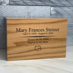 Customer Gallery - Traditions Oak Cremation Urn
