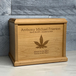 Customer Gallery - Marijuana Cremation Urn - Signature Alder