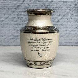 Customer Gallery - Radiant White Keepsake Urn