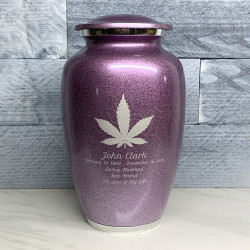 Customer Gallery - Marijuana Cremation Urn - Purple Luster