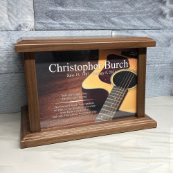 Customer Gallery - Acoustic Guitar Cremation Urn - Prestige Walnut