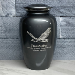 Customer Gallery - Eagle Cremation Urn - Gunmetal Gray
