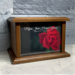 Customer Gallery - Rose Cremation Urn - Prestige Walnut