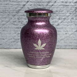 Customer Gallery - Marijuana Keepsake Urn - Purple Luster