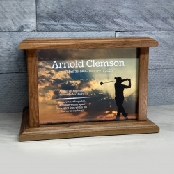 Customer Gallery - Golf Cremation Urn - Prestige Walnut
