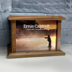 Customer Gallery - Fisherman III Cremation Urn - Prestige Walnut