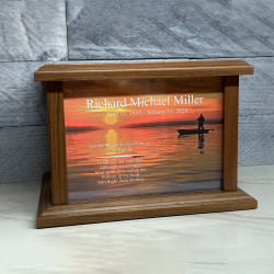 Customer Gallery - Fishing II Cremation Urn - Prestige Walnut