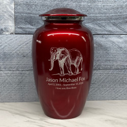 Customer Gallery - Elephant Cremation Urn - Ruby Red