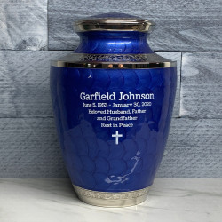 Customer Gallery - Royal Blue Cremation Urn
