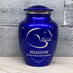 Customer Gallery - Sleeping Cat Cremation Urn - Midnight Blue
