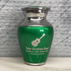 Customer Gallery - Acoustic Guitar Keepsake Urn - Shamrock Green