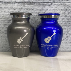 Customer Gallery - Acoustic Guitar Keepsake Urn - Midnight Blue