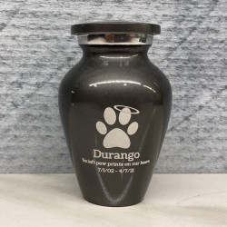 Customer Gallery - Keepsake Angel Paw Pet Cremation Urn - Gunmetal Gray