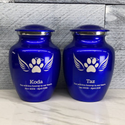 Customer Gallery - Small Angel Wings Pet Cremation Urn - Midnight Blue