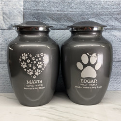 Customer Gallery - Large Angel Paw Pet Cremation Urn - Gunmetal Gray