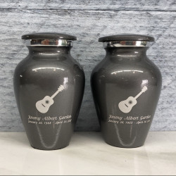 Customer Gallery - Acoustic Guitar Keepsake Urn - Gunmetal Gray