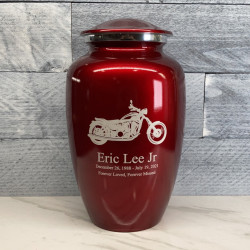 Customer Gallery - Motorcycle Cremation Urn - Ruby Red
