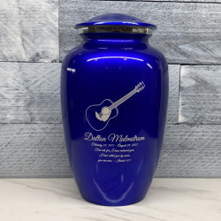 Customer Gallery - Acoustic Guitar Cremation Urn - Midnight Blue