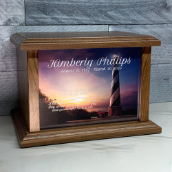 Customer Gallery - Lighthouse II Cremation Urn - Prestige Walnut
