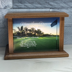 Customer Gallery - Golf III Cremation Urn - Prestige Walnut