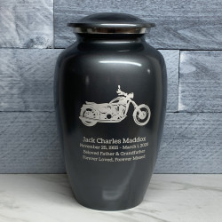 Customer Gallery - Motorcycle Cremation Urn - Gunmetal Gray