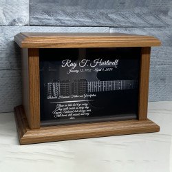 Customer Gallery - Electric Guitar Cremation Urn - Prestige Walnut
