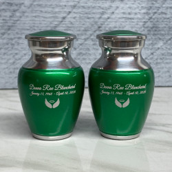 Customer Gallery - Shamrock Green Keepsake Urn