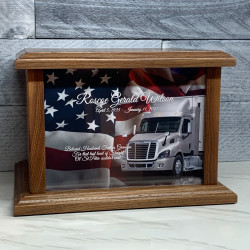 Customer Gallery - Semi Truck Cremation Urn - Prestige Walnut